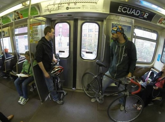 bikes in a train