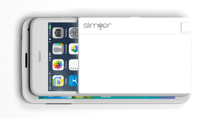the iphone 8 iphoneとandroid用 厚さ4 8mmの薄型バッテリー slimger スリムジャー 13096